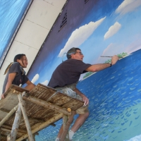 AlTo staff painting at Taima