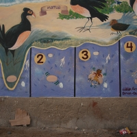 Maleo bird egg sequence from Taima mural
