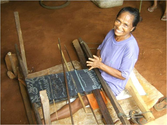 traditional weaver has revived her traditional craft
