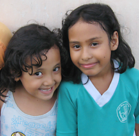 two young girls of Tompotika