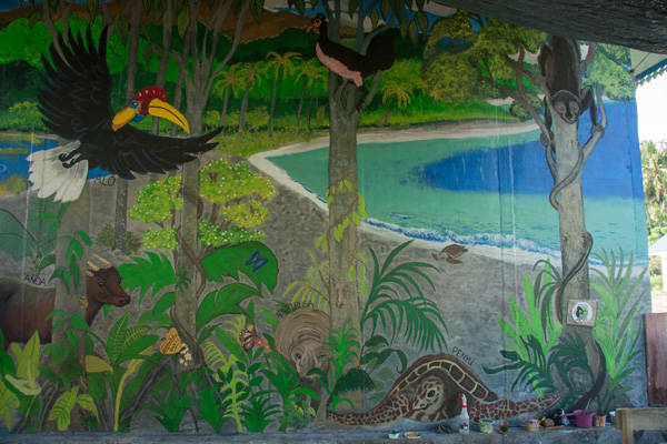 Mostly finished Teku/Toweer mural