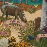 Babirusa and others on Taima mural