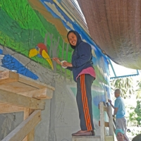 Anim working on Taima mural