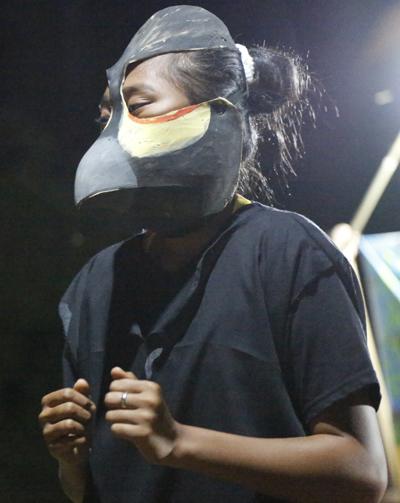 A maleo bird lays her egg