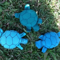 Our hand-made sea turtle juggling balls