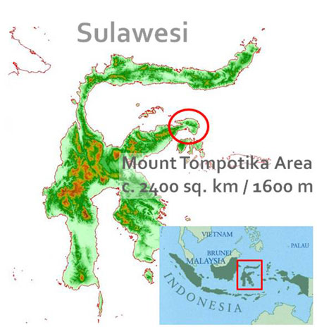 Map showing where Tompotika is