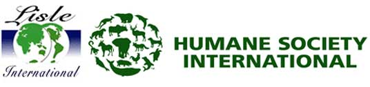 logos, Humane Society International and Lisle International