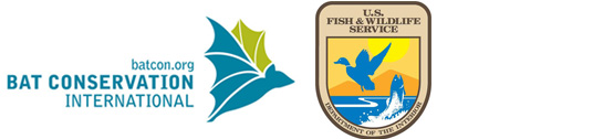 logos of Bat Conservation International and US Fish and Wildlife Service